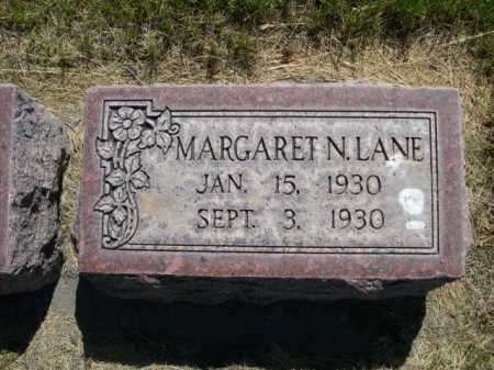 LANE, MARGARET N. - Dawes County, Nebraska | MARGARET N. LANE - Nebraska Gravestone Photos