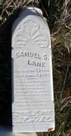 LANE, SAMUEL S. - Dawes County, Nebraska   SAMUEL S. LANE - Nebraska Gravestone Photos