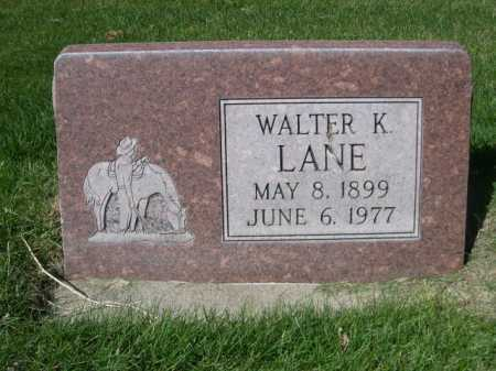 LANE, WALTER - Dawes County, Nebraska   WALTER LANE - Nebraska Gravestone Photos