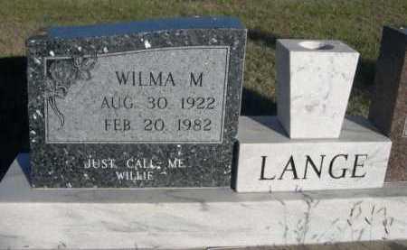 LANGE, WILMA M. - Dawes County, Nebraska | WILMA M. LANGE - Nebraska Gravestone Photos
