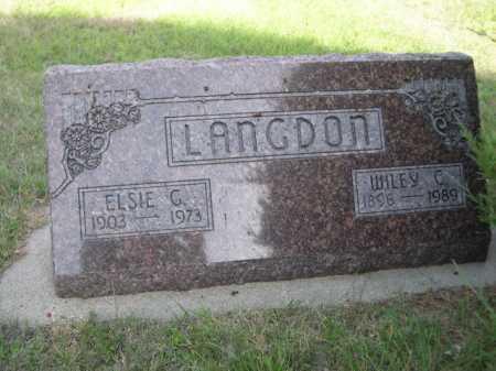 LANGDON, ELSIE G. - Dawes County, Nebraska | ELSIE G. LANGDON - Nebraska Gravestone Photos