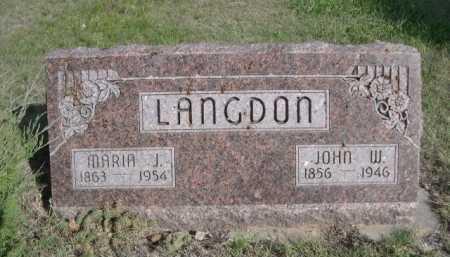 LANGDON, MARIA J. - Dawes County, Nebraska | MARIA J. LANGDON - Nebraska Gravestone Photos