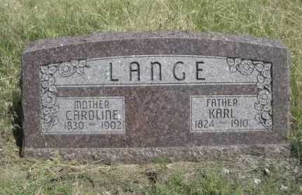 LANGE, CAROLINE - Dawes County, Nebraska | CAROLINE LANGE - Nebraska Gravestone Photos