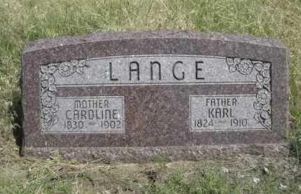 LANGE, KARL - Dawes County, Nebraska | KARL LANGE - Nebraska Gravestone Photos