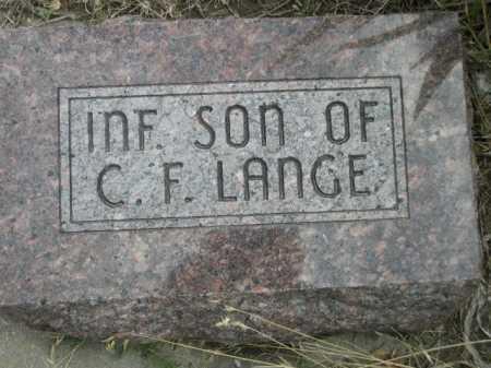 LANGE, INFANT SON OF C.F. - Dawes County, Nebraska | INFANT SON OF C.F. LANGE - Nebraska Gravestone Photos