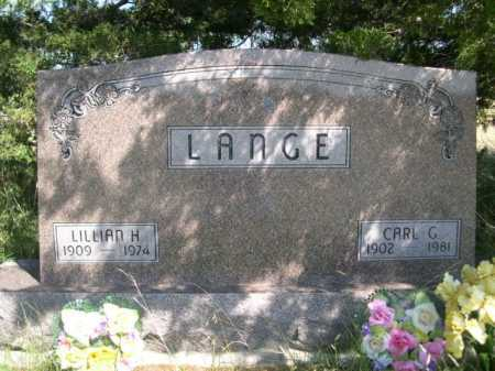 LANGE, LILLIAN H. - Dawes County, Nebraska | LILLIAN H. LANGE - Nebraska Gravestone Photos