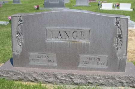 LANGE, MARIAN - Dawes County, Nebraska | MARIAN LANGE - Nebraska Gravestone Photos