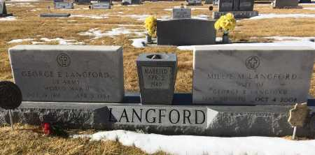 LANGFORD, GEORGE E. - Dawes County, Nebraska | GEORGE E. LANGFORD - Nebraska Gravestone Photos