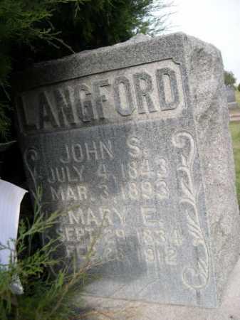 LANGFORD, MARY E. - Dawes County, Nebraska   MARY E. LANGFORD - Nebraska Gravestone Photos