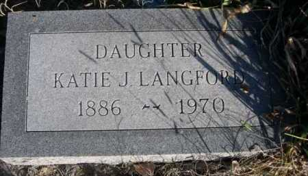 LANGFORD, KATIE J. - Dawes County, Nebraska   KATIE J. LANGFORD - Nebraska Gravestone Photos