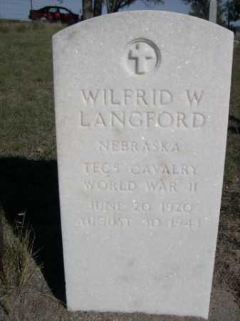 LANGFORD, WILFRID W. - Dawes County, Nebraska | WILFRID W. LANGFORD - Nebraska Gravestone Photos