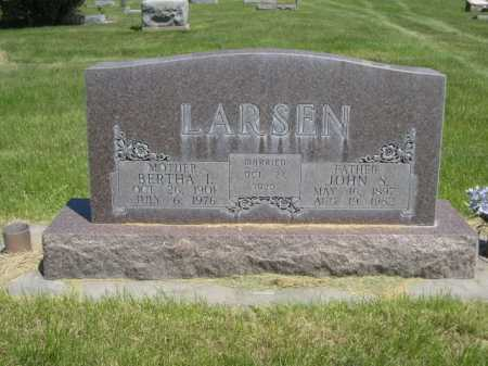 LARSEN, BERTHA I. - Dawes County, Nebraska   BERTHA I. LARSEN - Nebraska Gravestone Photos