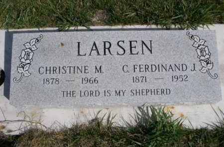 LARSEN, CHRISTINE M. - Dawes County, Nebraska | CHRISTINE M. LARSEN - Nebraska Gravestone Photos