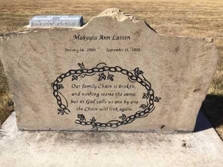 LARSEN, MAKAYLA ANN - Dawes County, Nebraska | MAKAYLA ANN LARSEN - Nebraska Gravestone Photos