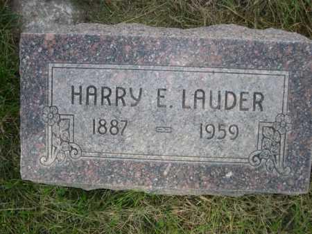 LAUDER, HARRY E. - Dawes County, Nebraska   HARRY E. LAUDER - Nebraska Gravestone Photos
