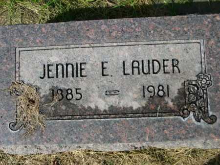 LAUDER, JENNIE - Dawes County, Nebraska   JENNIE LAUDER - Nebraska Gravestone Photos