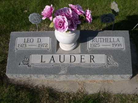LAUDER, RUTHELLA - Dawes County, Nebraska | RUTHELLA LAUDER - Nebraska Gravestone Photos