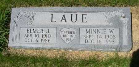 LAUE, ELMER J. - Dawes County, Nebraska | ELMER J. LAUE - Nebraska Gravestone Photos