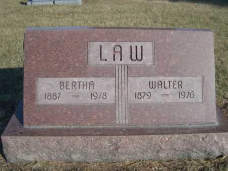 LAW, BERTHA - Dawes County, Nebraska | BERTHA LAW - Nebraska Gravestone Photos