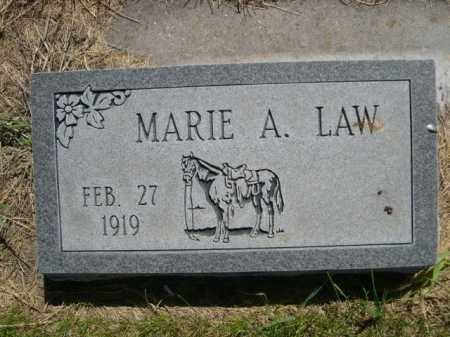 LAW, MARIE A. - Dawes County, Nebraska | MARIE A. LAW - Nebraska Gravestone Photos