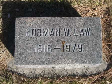 LAW, NORMAN W. - Dawes County, Nebraska | NORMAN W. LAW - Nebraska Gravestone Photos