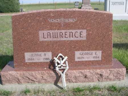 LAWRENCE, JENNIE A. - Dawes County, Nebraska | JENNIE A. LAWRENCE - Nebraska Gravestone Photos