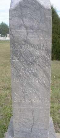 LE SUEUR, AMANDA M. - Dawes County, Nebraska | AMANDA M. LE SUEUR - Nebraska Gravestone Photos