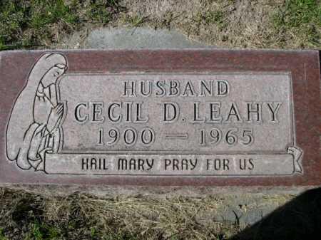 LEAHY, CECIL D. - Dawes County, Nebraska | CECIL D. LEAHY - Nebraska Gravestone Photos