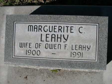 LEAHY, MARGUERITE C. - Dawes County, Nebraska   MARGUERITE C. LEAHY - Nebraska Gravestone Photos