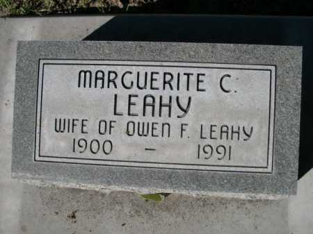 LEAHY, MARGUERITE C. - Dawes County, Nebraska | MARGUERITE C. LEAHY - Nebraska Gravestone Photos
