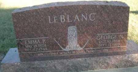 LEBLANC, EMMA P. - Dawes County, Nebraska | EMMA P. LEBLANC - Nebraska Gravestone Photos
