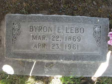 LEBO, BYRON E. - Dawes County, Nebraska | BYRON E. LEBO - Nebraska Gravestone Photos