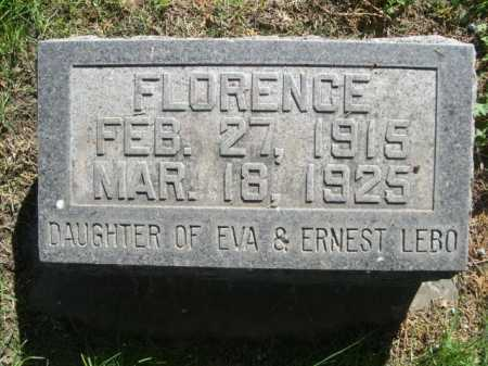 LEBO, FLORENCE - Dawes County, Nebraska   FLORENCE LEBO - Nebraska Gravestone Photos