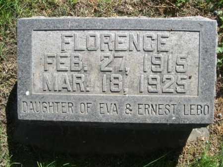 LEBO, FLORENCE - Dawes County, Nebraska | FLORENCE LEBO - Nebraska Gravestone Photos