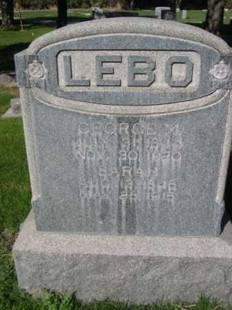LEBO, GEROGE M. - Dawes County, Nebraska | GEROGE M. LEBO - Nebraska Gravestone Photos