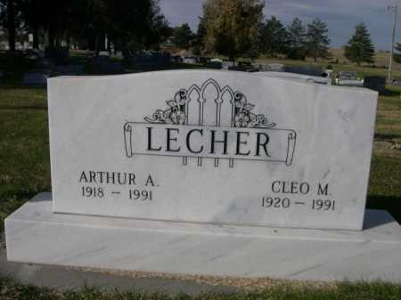 LECHER, ARTHUR A. - Dawes County, Nebraska | ARTHUR A. LECHER - Nebraska Gravestone Photos