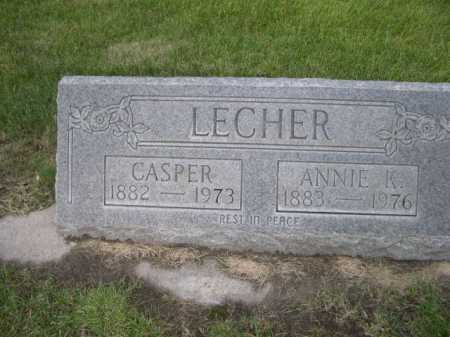 LECHER, CASPER - Dawes County, Nebraska | CASPER LECHER - Nebraska Gravestone Photos