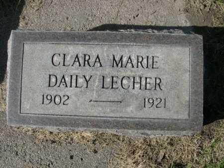 LECHER, CLARA MARIE DAILY - Dawes County, Nebraska | CLARA MARIE DAILY LECHER - Nebraska Gravestone Photos