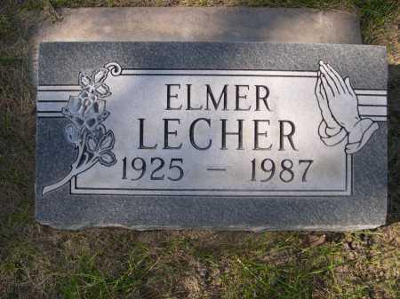 LECHER, ELMER - Dawes County, Nebraska | ELMER LECHER - Nebraska Gravestone Photos