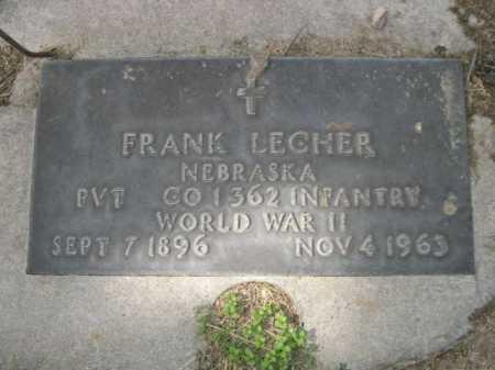 LECHER, FRANK - Dawes County, Nebraska | FRANK LECHER - Nebraska Gravestone Photos