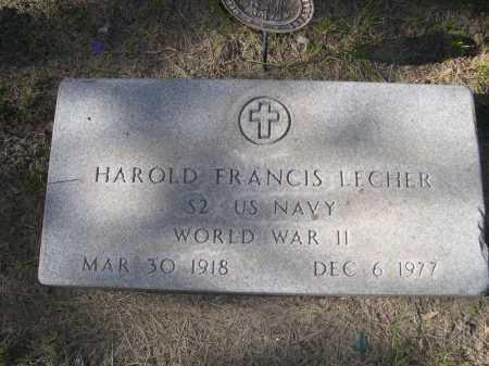 LECHER, HAROLD FRANCIS - Dawes County, Nebraska | HAROLD FRANCIS LECHER - Nebraska Gravestone Photos