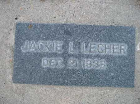 LECHER, JACKIE L. - Dawes County, Nebraska | JACKIE L. LECHER - Nebraska Gravestone Photos