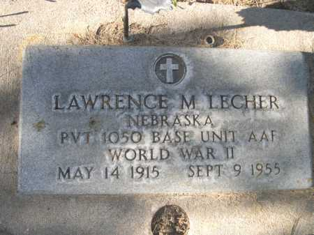 LECHER, LAWRENCE M. - Dawes County, Nebraska | LAWRENCE M. LECHER - Nebraska Gravestone Photos