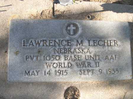 LECHER, LAWRENCE M. - Dawes County, Nebraska   LAWRENCE M. LECHER - Nebraska Gravestone Photos