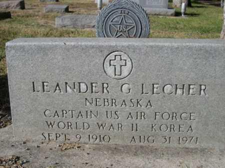 LECHER, LEANDER G. - Dawes County, Nebraska | LEANDER G. LECHER - Nebraska Gravestone Photos