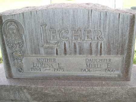 LECHER, MERLE E. - Dawes County, Nebraska | MERLE E. LECHER - Nebraska Gravestone Photos