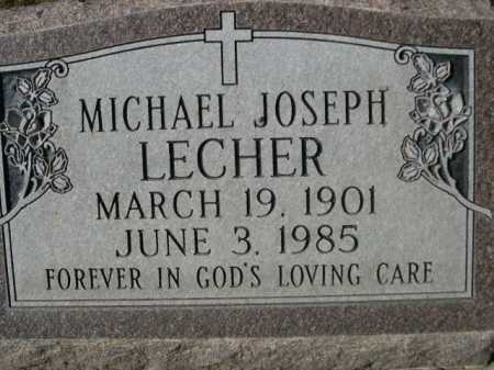 LECHER, MICHAEL JOSEPH - Dawes County, Nebraska | MICHAEL JOSEPH LECHER - Nebraska Gravestone Photos