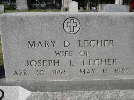 LECHER, MARY D. - Dawes County, Nebraska | MARY D. LECHER - Nebraska Gravestone Photos