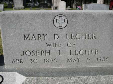 LECHER, MARY D. - Dawes County, Nebraska   MARY D. LECHER - Nebraska Gravestone Photos