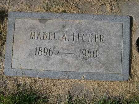 LECHER, MABEL A. - Dawes County, Nebraska | MABEL A. LECHER - Nebraska Gravestone Photos